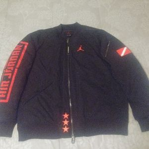 Nike Air Jordan Retro 1 Bomber Jacket Black/Infra